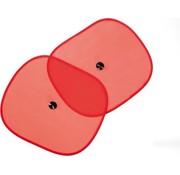 Merkloos Zonwering Zonnescherm Auto UV Protectie 2 Stuks Autozonwering Voor Autoraam Zijruit -Rood