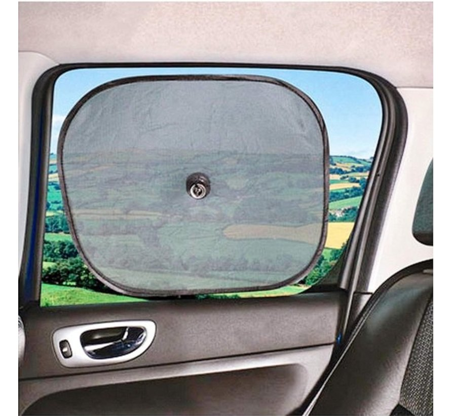 Zonwering Zonnescherm Auto UV Protectie 2 Stuks Autozonwering Voor Autoraam Zijruit -Rood