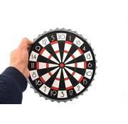 Merkloos Dartboard - Beer Cap Darts Game| Magnetic Bottle Caps Darts 7 Pieces - Drinking Game - 23x23x2cm