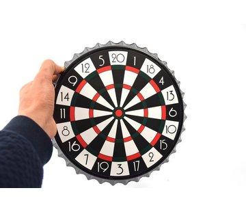 Merkloos Dartbord - Bierdop Dartspel| Magnetisch Flessendoppen Darts 7-delig - Drankspel - 23x23x2cm