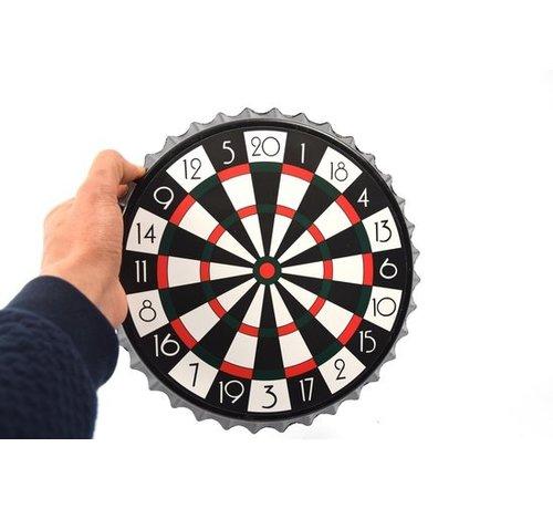 Merkloos Dartbord - Bierdop Dartspel| Magnetisch Flessendoppendarts 7-delig - Drankspel - 23x23x2cm