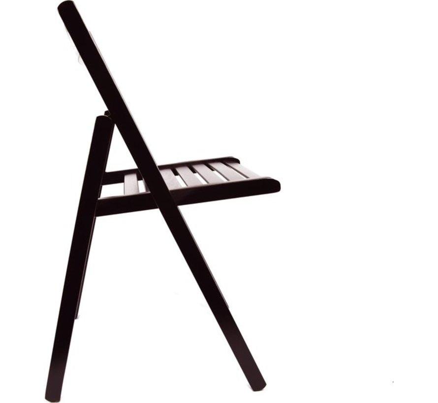 Klapstoel Luxe Tuinstoel D-Bruin   opklapbare   Klapstoel  houten tuinstoelen 38 X 42 X 87 Cm Hout - Stoel -