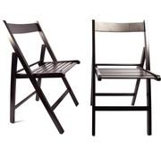 Merkloos 2 Pcs Folding chair Luxury Garden chair D-Brown   folding   Folding chair   wooden garden chairs 38 X 42 X 87 Cm Wood - Chair
