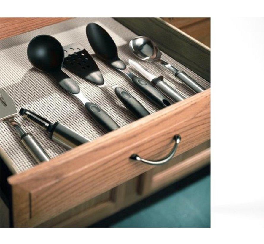 5x Non Slip Gripmat – Zwart – 30x150cm   Niet Klevende Antislipmat Gaas Patroon voor Bureaus en Keukenlades