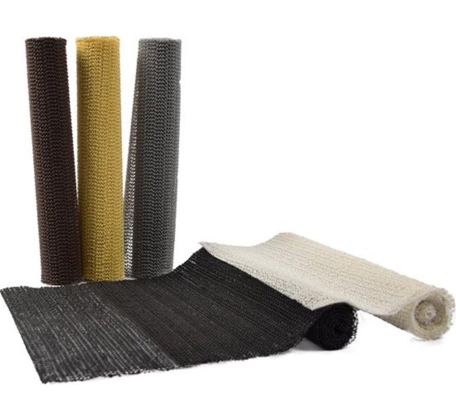 5x Non Slip Grip Mat – Black – 30x150cm   Non-Stick Non-Slip Mat Mesh Pattern for Desks and Kitchen Drawers