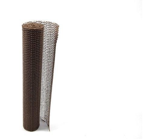 Merkloos Non Slip Grip mat – Bruin – 30x150cm | Niet Klevende Antislipmat Gaas Patroon voor Bureaus en Keukenlades