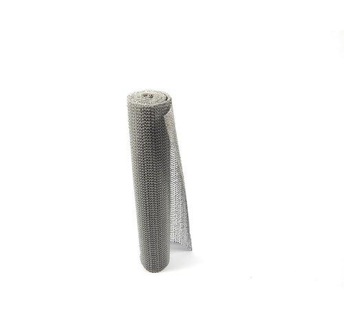 Merkloos Non Slip Grip mat – Grijs – 30x150cm   Niet Klevende Antislipmat Gaas Patroon voor Bureaus en Keukenlades