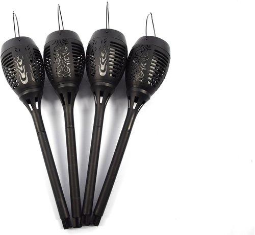Merkloos 4x Solar 50cm Garden Torch with Sensor 36 Led 300mAh 1.2V – Solar Garden Lighting – Outdoor Lighting
