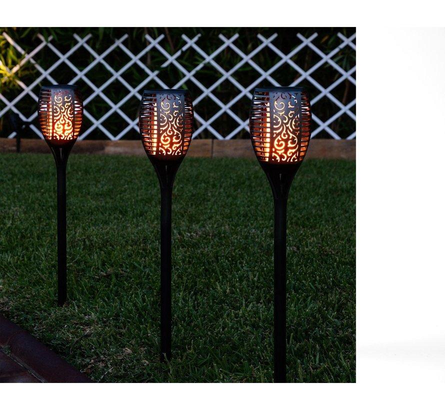 4x Solar 50cm Garden Torch with Sensor 36 Led 300mAh 1.2V – Solar Garden Lighting – Outdoor Lighting