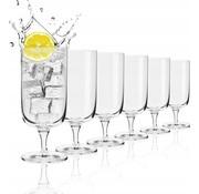 Krosno Krosno Crystal glasses - Cocktail glasses / Drinking glasses - 400 ml. - 6 Piece
