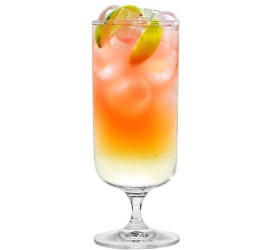 Krosno Kristal glazen - Cocktailglazen / Drinkglazen - 400 ml. - 6 Delig