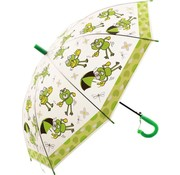 Merkloos Children's umbrella with frog print 96 cm umbrella - Disney Children's umbrella 96 cm automatic umbrella with Transparent and Whistle included
