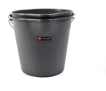Merkloos 2 Pieces Sturdy anthracite household bucket 12 liters with spout - Household products - Household buckets - handy buckets - construction buckets - cleaning buckets