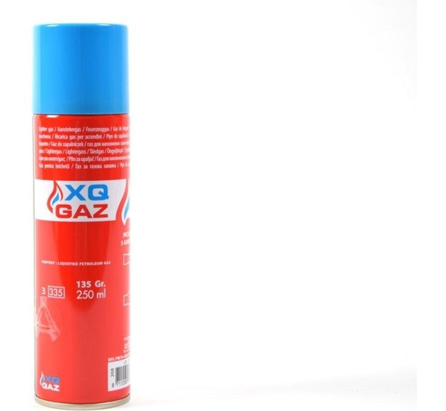 1x Busje aanstekergas / butaan gasfles 250 ml