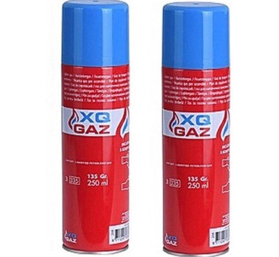 3x Canister lighter gas / butane gas bottle 250 ml