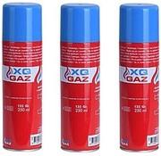 XQ 3x Busje aansteker gas / butaan gasfles 250 ml -