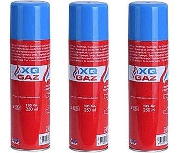 XQ 3x Canister lighter gas / butane gas bottle 250 ml -