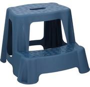 Merkloos Blue children's stool/step with 2 steps 35 cm - Kitchen/bathroom stools/steps for children