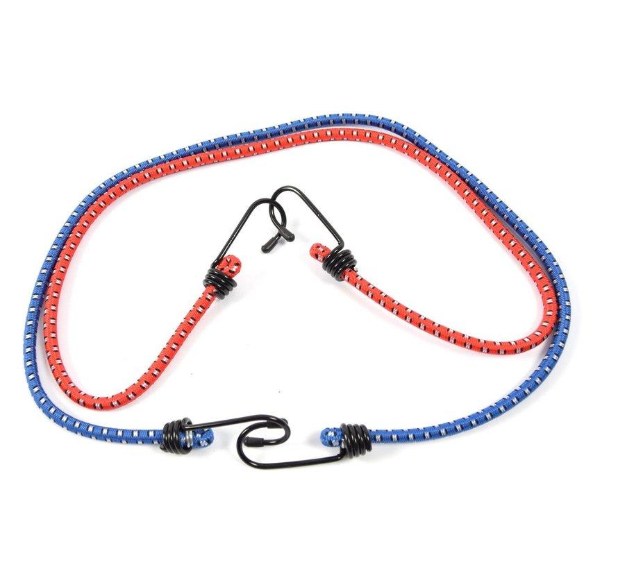 snelbinders - Spinbinder - snelbinders - snelbinder 80cm - snelbinder fiets - 2 armen - Uni- bagagespin - spinbinder met twee elastische armen - Elastische binders - met haak- Haak - Binders