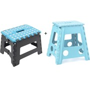 Merkloos Collapsible stool | Kitchen stool |Stool | Step stool | Stairs -Blue | Stairs| Step Foldable | stool | Handy | Top!