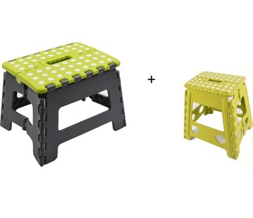 Merkloos Collapsible stool | Step | Step stool | Stairs -green |Stairs| Step Foldable | stool | Handy | Top!