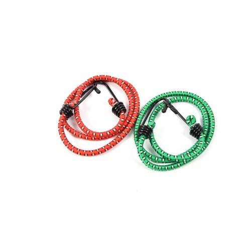 Merkloos snelbinders - Spinbinder - snelbinders - snelbinder 80cm - snelbinder fiets - 2 armen - Uni- bagagespin - spinbinder 80cm met twee elastische armen - Elastische binders - met haak- Haak - Binders