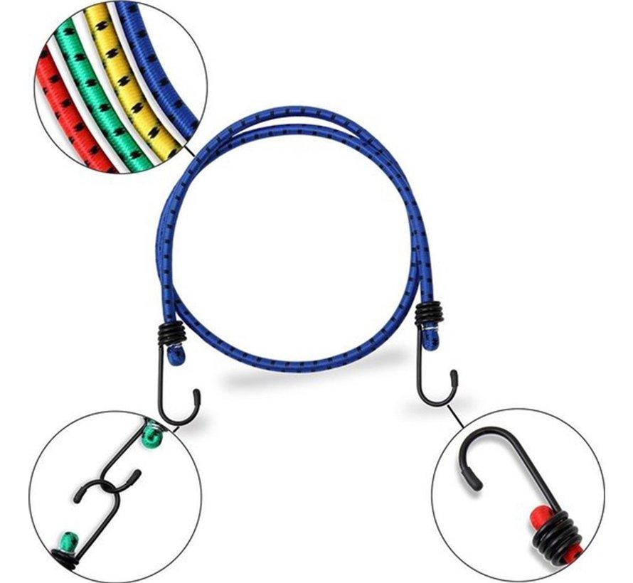 snelbinders - Spinbinder - snelbinders - snelbinder 80cm - snelbinder fiets - 2 armen - Uni- bagagespin - spinbinder 80cm met twee elastische armen - Elastische binders - met haak- Haak - Binders