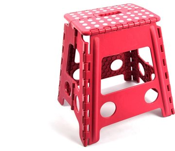 Merkloos Step stool - step stool - Bathroom stool - Black - Stool - Bathroom stool - Stool - Stairs - Small stairs - Design - Plastic - Discountershop Stool super handy - Stool - Kitchen stairs - Kitchen steps - Foldable - Blue 39 cm - up to 150 kg