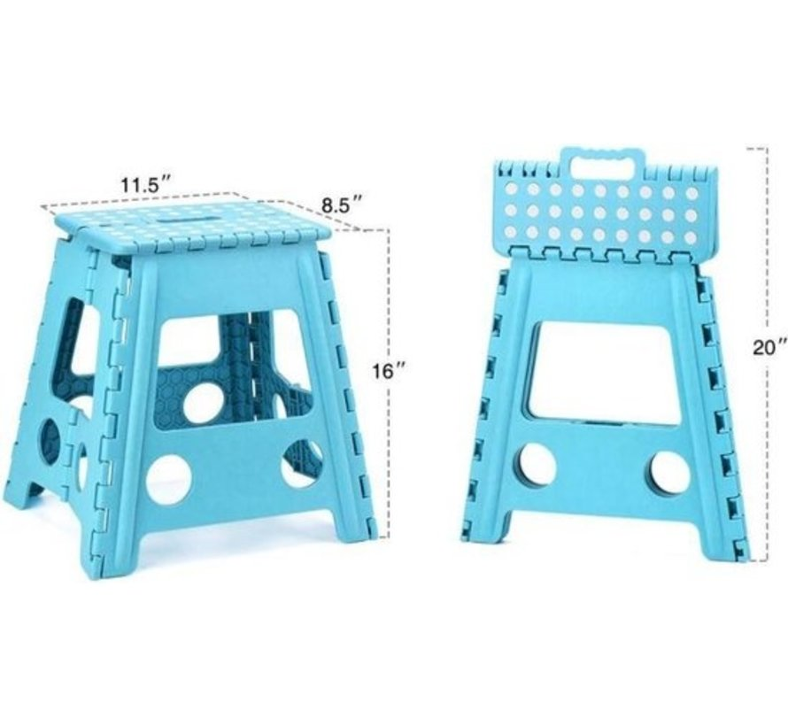 step stool - step stool - Bathroom stool - - Stool - Bathroom stool - Stool - Staircase - Small stairs - Design - Plastic - Discountershop Stool super handy - Stool - Kitchen stairs - Kitchen steps - Foldable - Blue 39 cm - up to 150 kg