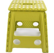 Merkloos step stool - step stool - Bathroom stool - Stool - Bathroom stool - Stool - Step - Small stairs - Design - Plastic - Discountershop Stool super handy - Stool - Kitchen stairs - Kitchen steps - Foldable - Green 39 cm - up to 150 kg