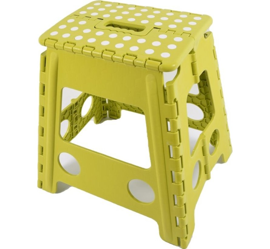step stool - step stool - Bathroom stool - Stool - Bathroom stool - Stool - Step - Small stairs - Design - Plastic - Discountershop Stool super handy - Stool - Kitchen stairs - Kitchen steps - Foldable - Green 39 cm - up to 150 kg