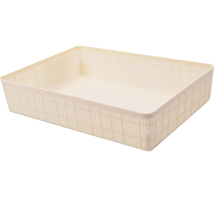 Jute Basket M - 5L - 1 piece - Off White- 100% Recycled