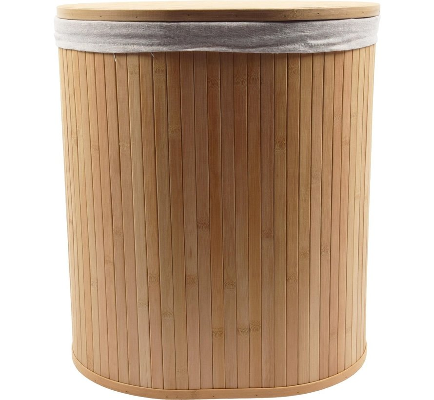 2-Piece Laundry Baskets with Lid | Laundry basket Sustainable | laundry bag cotton | Laundry basket bamboo 50 liters