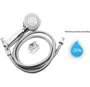 Trofwal Shower head Incl. Hose 1.5 Meter - 3 positions - 1/2'' - Shower Head - Hand shower 1pc. ø 8cm chrome - Shower set with shower head, wall holder and hose with 3 spray positions - Shower head with hose set - Shower heads - Shower head Stainless - 3 Function