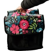 Bikebags Double Bicycle Bag waterproof with reflective stripes for extra safety - Bicycle Bag - Flowers - 2x 18 Liter