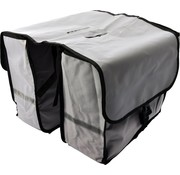 Bikebags Double Pannier waterproof with reflective stripes for extra safety - Pannier - Gray - 2x 18 Liter