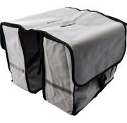 Bikebags Dubbele Fietstas waterdicht met reflecterende strepen voor extra veiligheid - Fietstas- Grijs - 2x 18 Liter