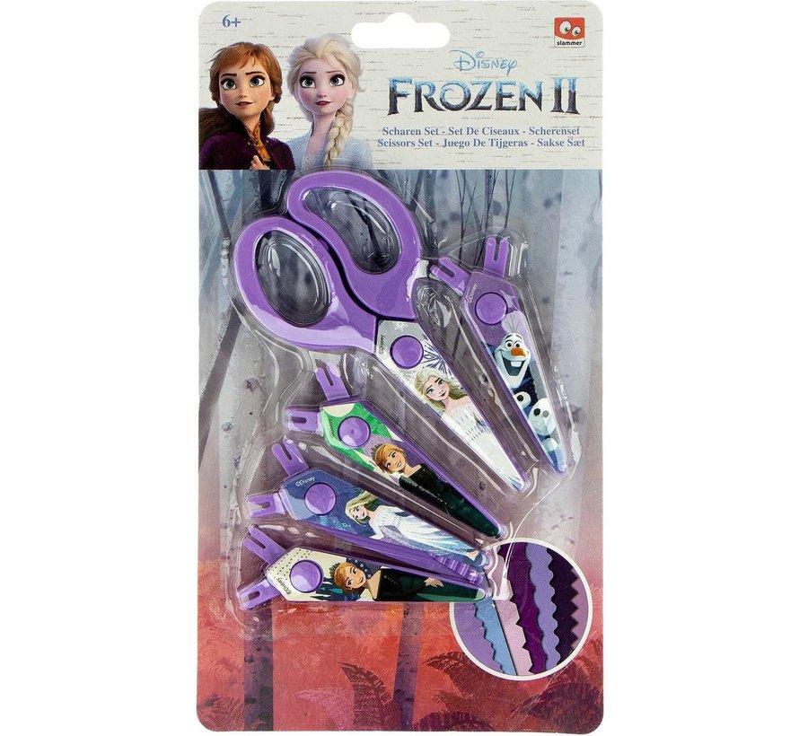 Frozen II schaar - schaar set frozen II - schaar frozen - Elsa schaar - Anna Schaar - 4 vervangbare schaar