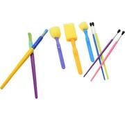 Merkloos Spons Schilderkwast - Painting Brush Set - Schilderen verf kwasten - kwasten verschillende soorten - knutselkwasten 9 stuks -