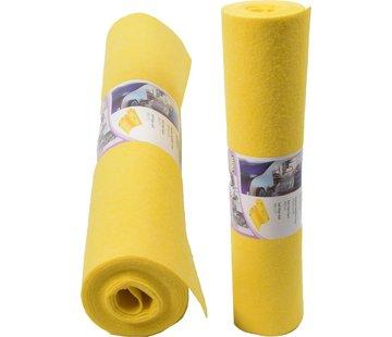 Merkloos Reinigingsdoek 4 meter rol - 3 stuks- Poetsdoeken Geel voor schoonmaakdoek- reinigingsdoek - Sopdoeken - A kwaliteit - 8 meter