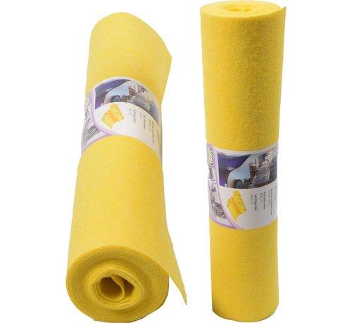 Merkloos 2x 4 meter rol Poetsdoeken Geel - reinigingsdoek - Sopdoeken - A kwaliteit - 8 meter