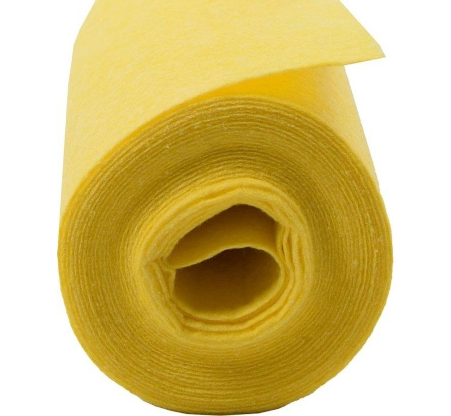 2x 4 meter rol Poetsdoeken Geel - reinigingsdoek - Sopdoeken - A kwaliteit - 8 meter
