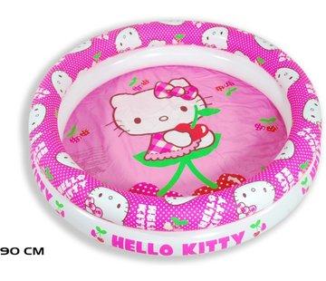 Hello Kitty Zwembad kopen - Zwembad meisjes opblaaszwembad Hello Kitty meisjes 90 cm PVC roze/wit