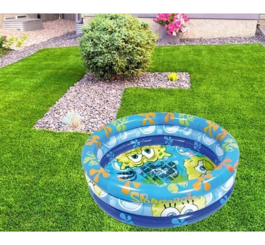 Opblaasbare Zwembad - Rond - Spongebob - 100 cm - Opblaasbaar - Kinderbad - Tuin - Zomer