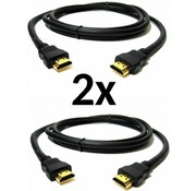 Grundig 2x HDMI 1.4 - 1m High Speed HDMI Cable - Ultra HD 4k x 2k HDMI Cable - HDMI to HDMI M/M - 1m HDMI 1.4 Cable - Audio/Video Gold Plated (HDMM1M)