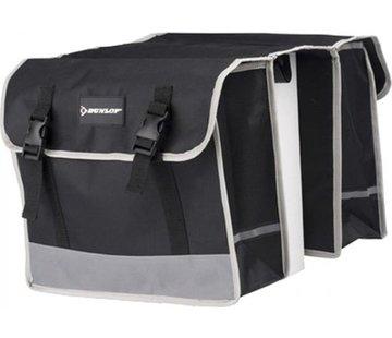 Dunlop Dubbele Fietstas waterdicht met reflecterende strepen voor extra veiligheid- Fietstas 32 Litre zwart