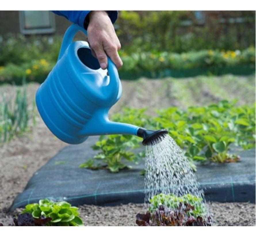 Gieter met sproeikop Blauw 10 liter - Planten bewatering - Tuinartikelen/tuinieren - Moestuin/zwarte tuin/kruidentuin