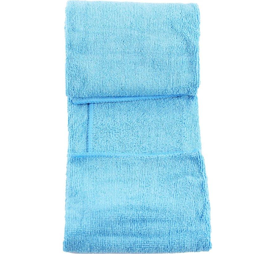 Handdoek van microvezel in draagtas. Sneldrogend - Compact - Superabsorberend - Lichtgewicht. Perfecte reis-, strand