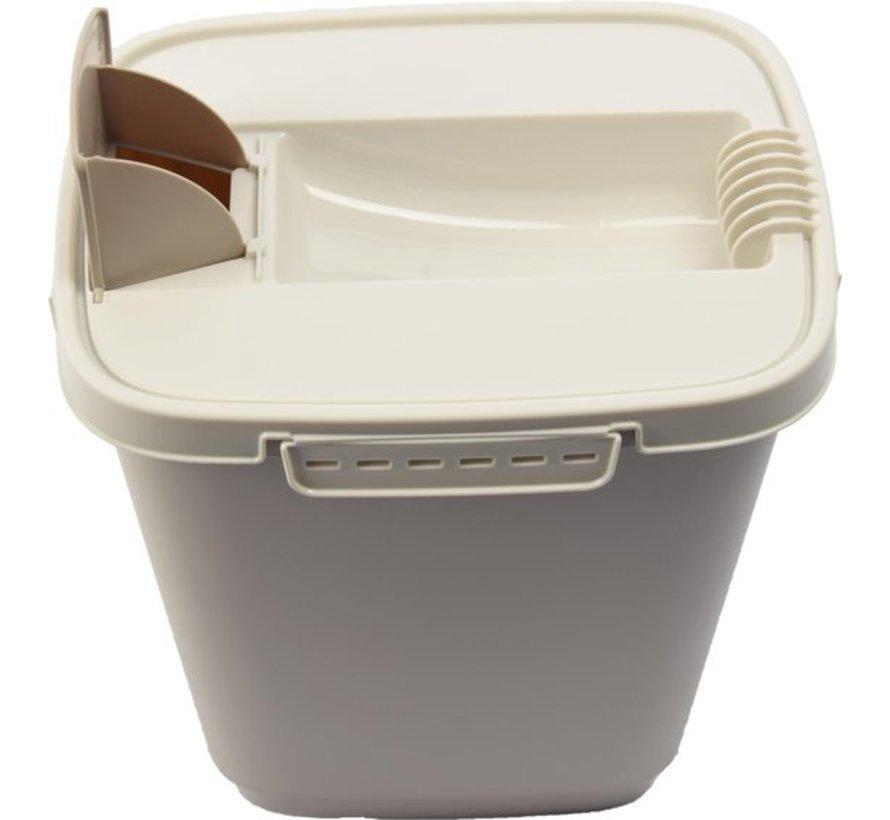 Kattenbak - Kattencontainer - Katten - Droogvoer - Voedselbak - Kattenvoedsel - Kattenbakvulling - Container - Voedsel