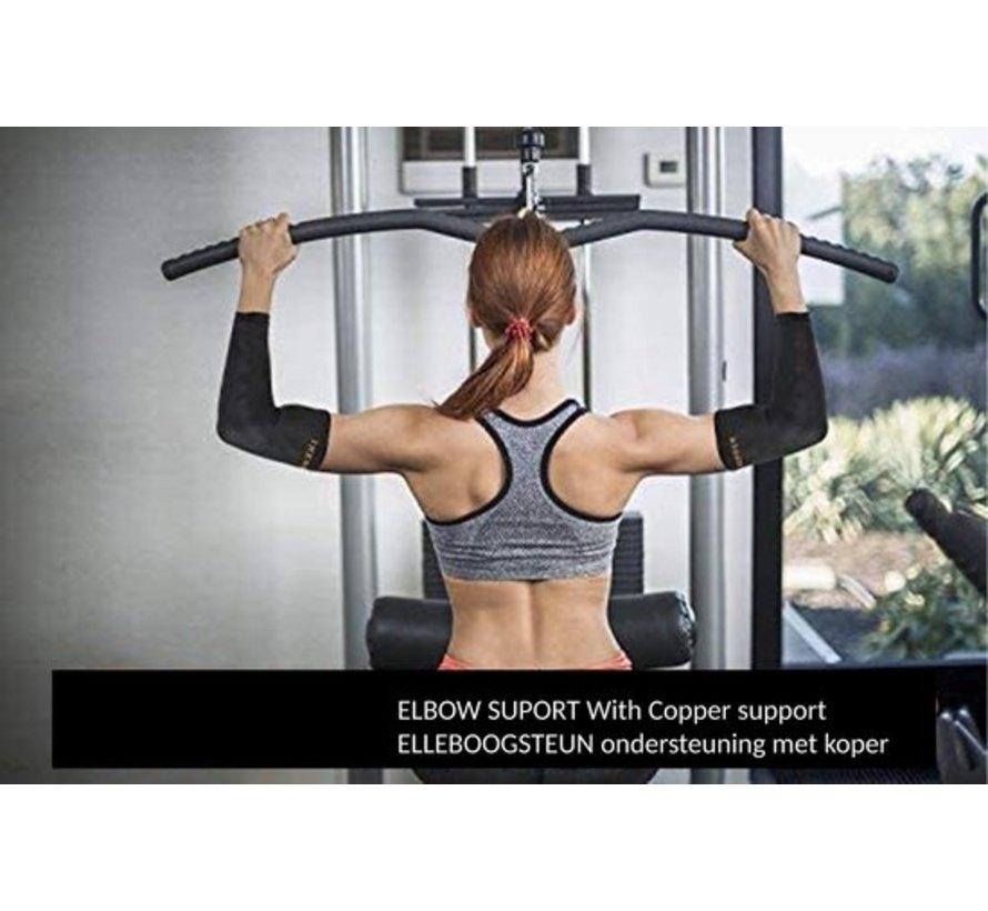Elleboog compressiehuls (1 paar) - # 1 koper geïnfundeerde ondersteuning - gegarandeerd herstel- SIZE XL